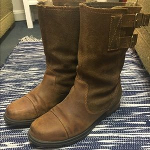 Wide calf Sorel Leather Boots